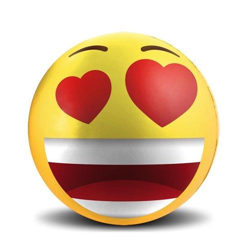 Balle En Mousse Anti Stress Emoticone Amoureux 7 6 Cm La Jouetterie