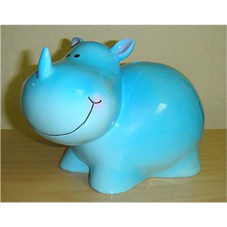 Tirelire rhinocéros bleu 7 po