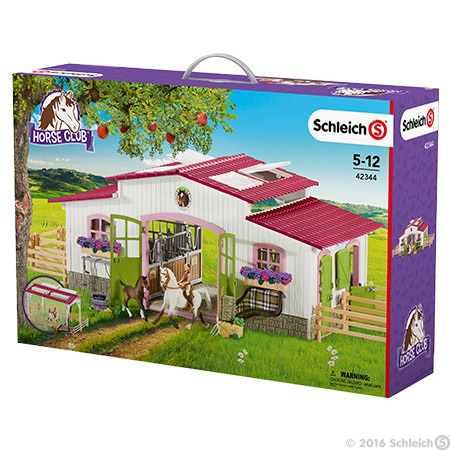schleich centre questre avec cavali re et chevaux. Black Bedroom Furniture Sets. Home Design Ideas