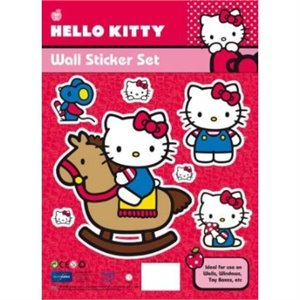 Hello Kitty - Ensemble d'autocollants muraux