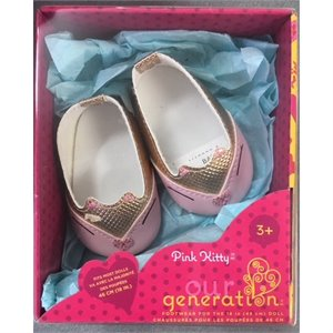 Souliers pour poupée 18'' - Ballerines Pink Kitty